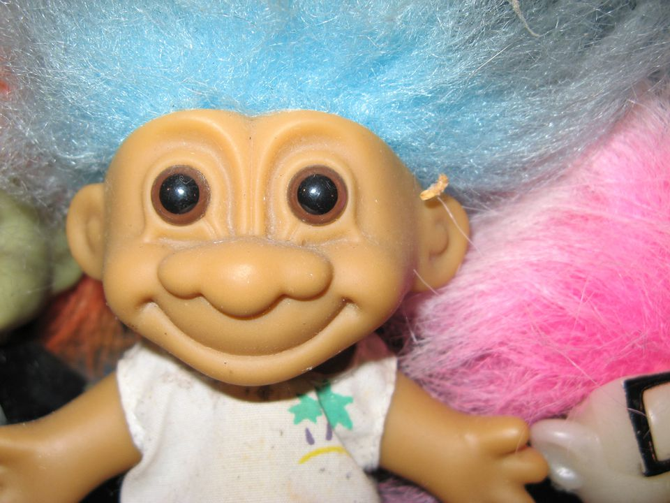 Troll doll, close-up