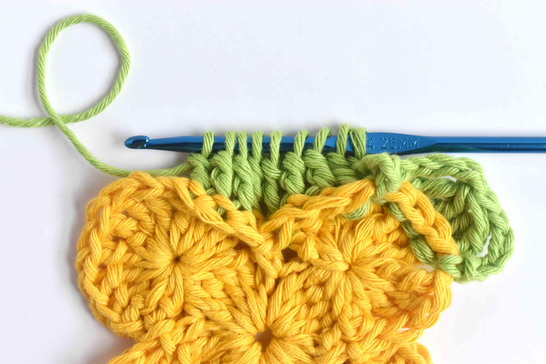 Back Post Treble Crochet 8 Together