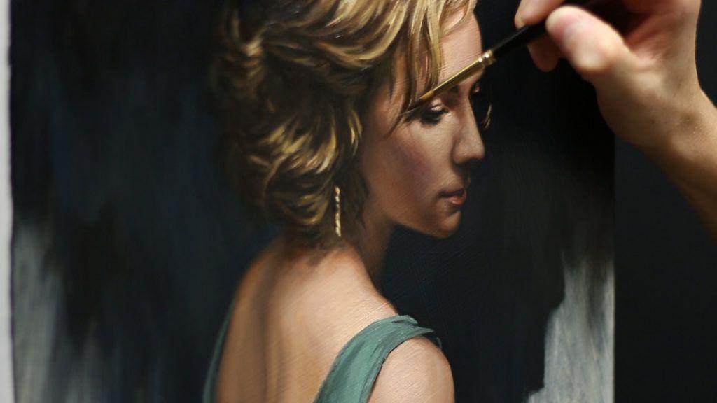 chiaroscuro painting idea