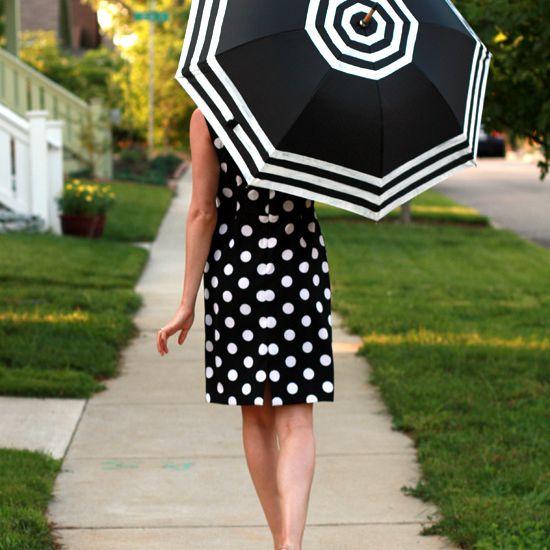 DIY Striped Edge Umbrella