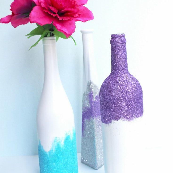 Glittery Vases