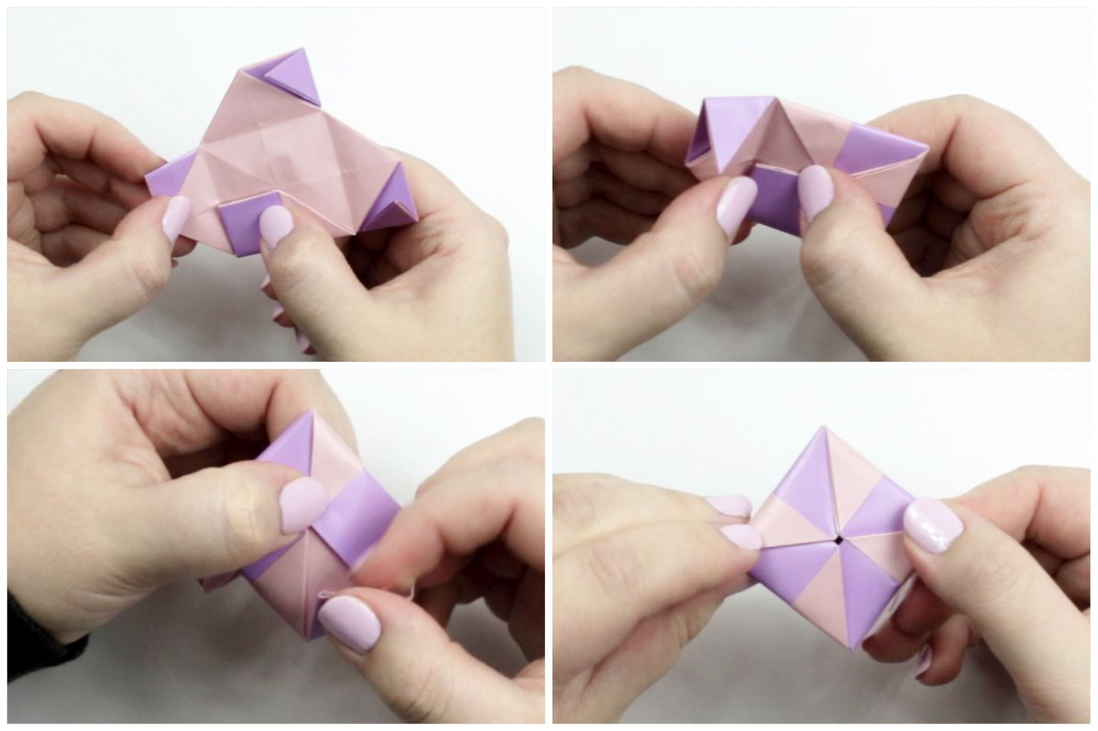 Origami paper folded into a box