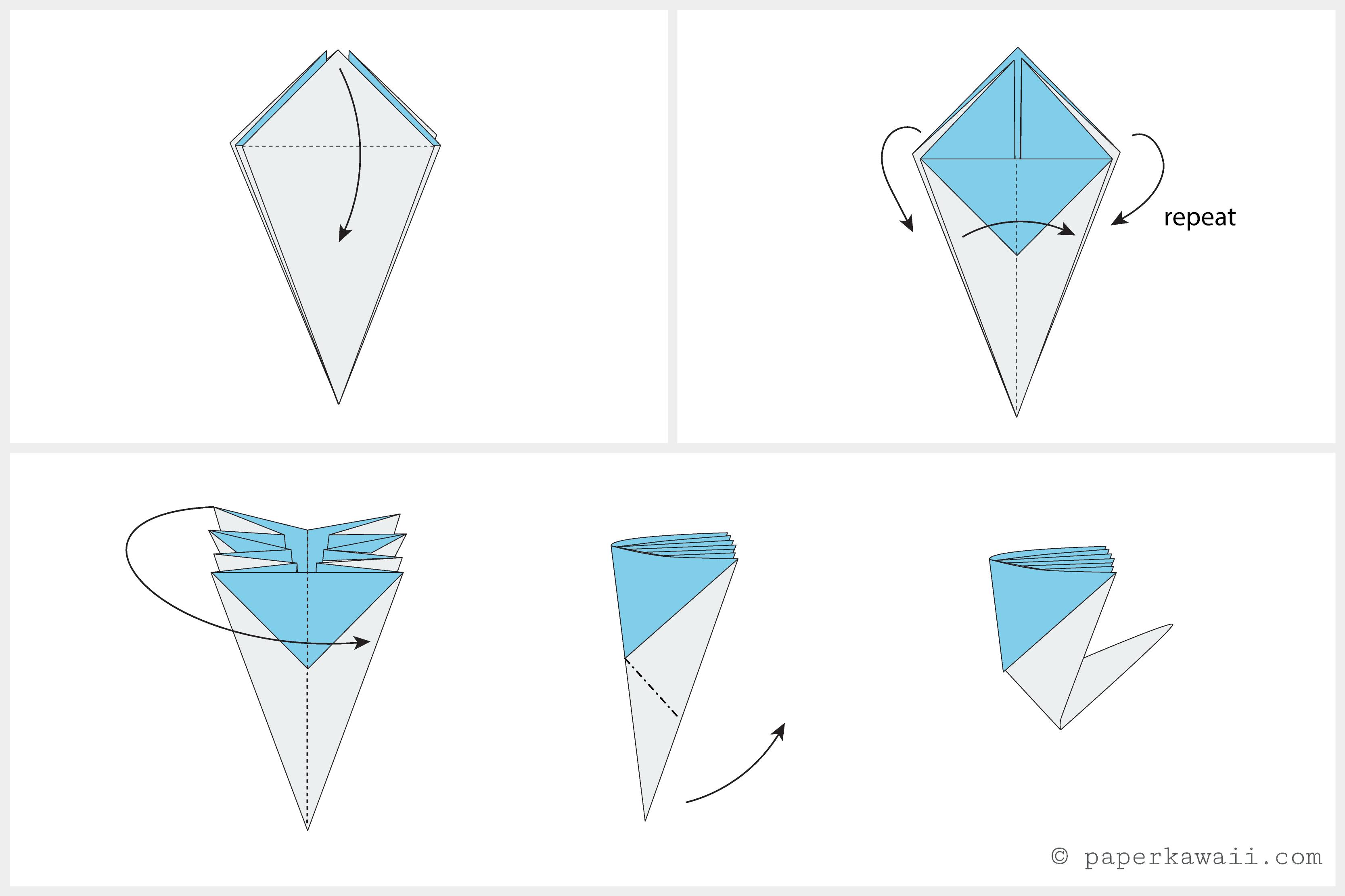 Origami Blossom Flower Diagram 04