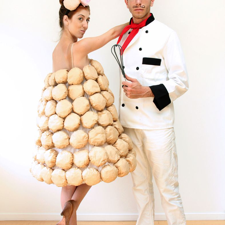 DIY chef and croquembouche costumes