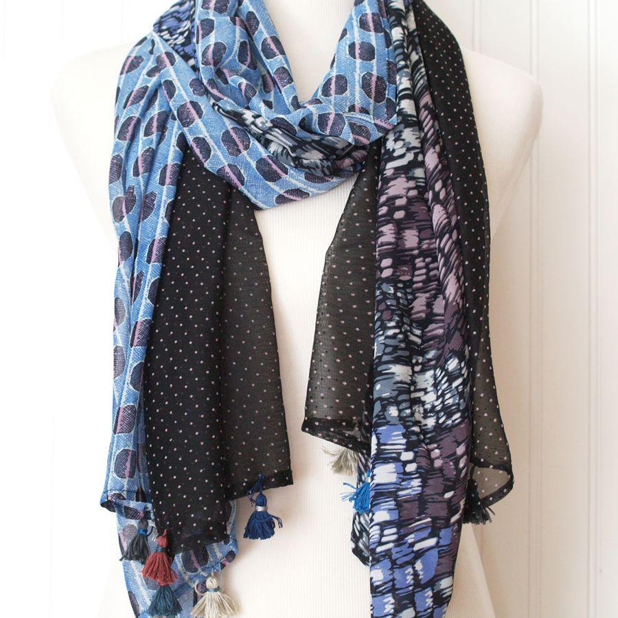 boho patchwork scarf diy tutorial