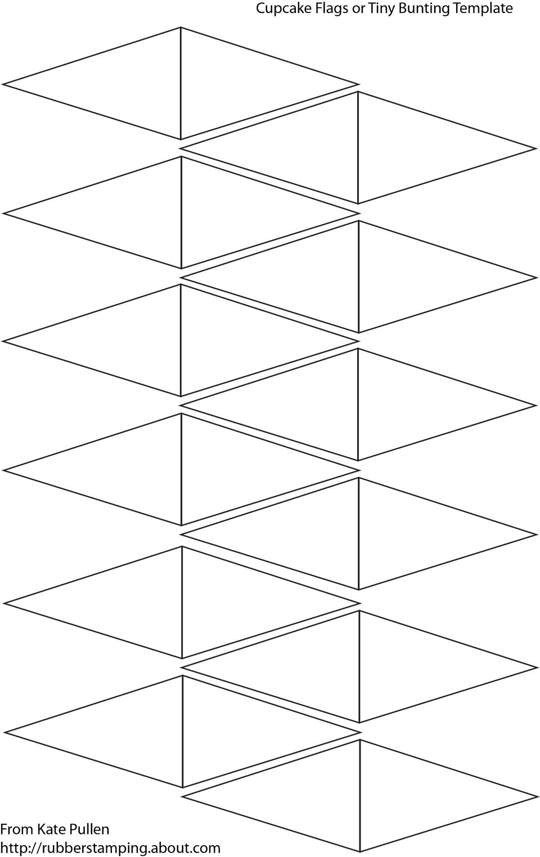 Cupcake Flag Template