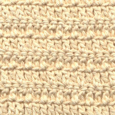 How to make a double crochet stitch textured double crochet stitch worked in alternate loops ccuart Choice Image