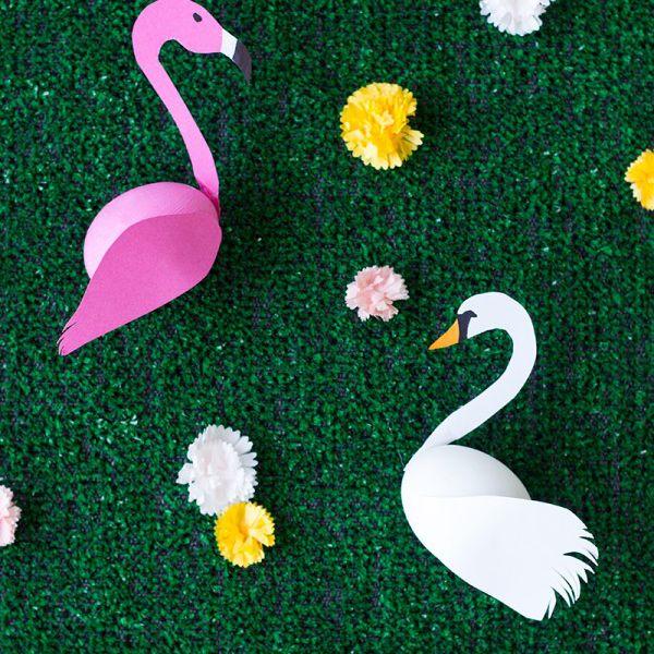 DIY Swan And Flamingo Easter Eggs