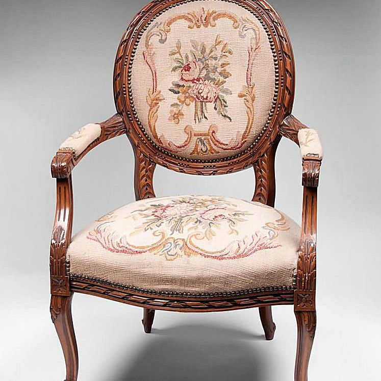 Fauteuil Chair Style. Fauteuil Chair. Pia's Antique Gallery on RubyLane.com - Upholstered Antique Chair Styles