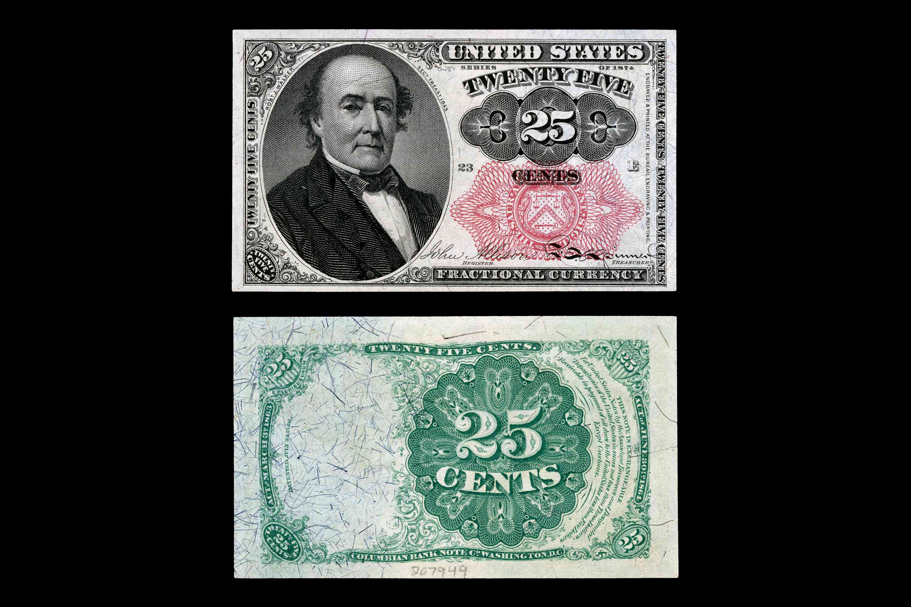 United States Fractional Currency Fifth Issue Twenty-Five Cent Note