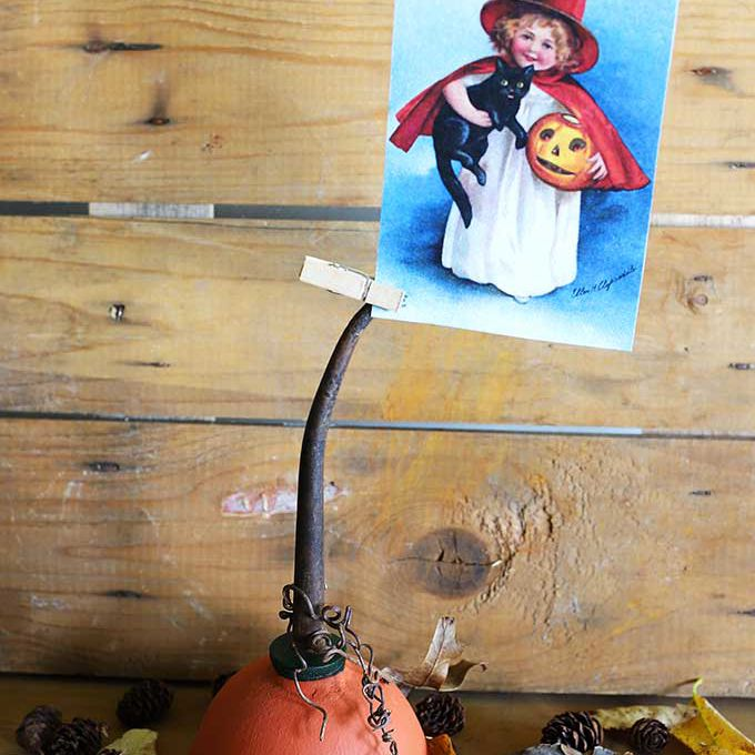 pumpkin photo holder