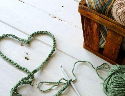 Green Crochet Heart Symbol