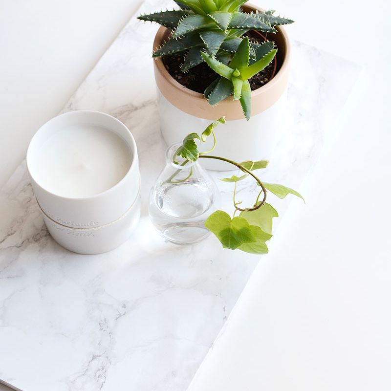 DIY Marble Coffee Table Tray