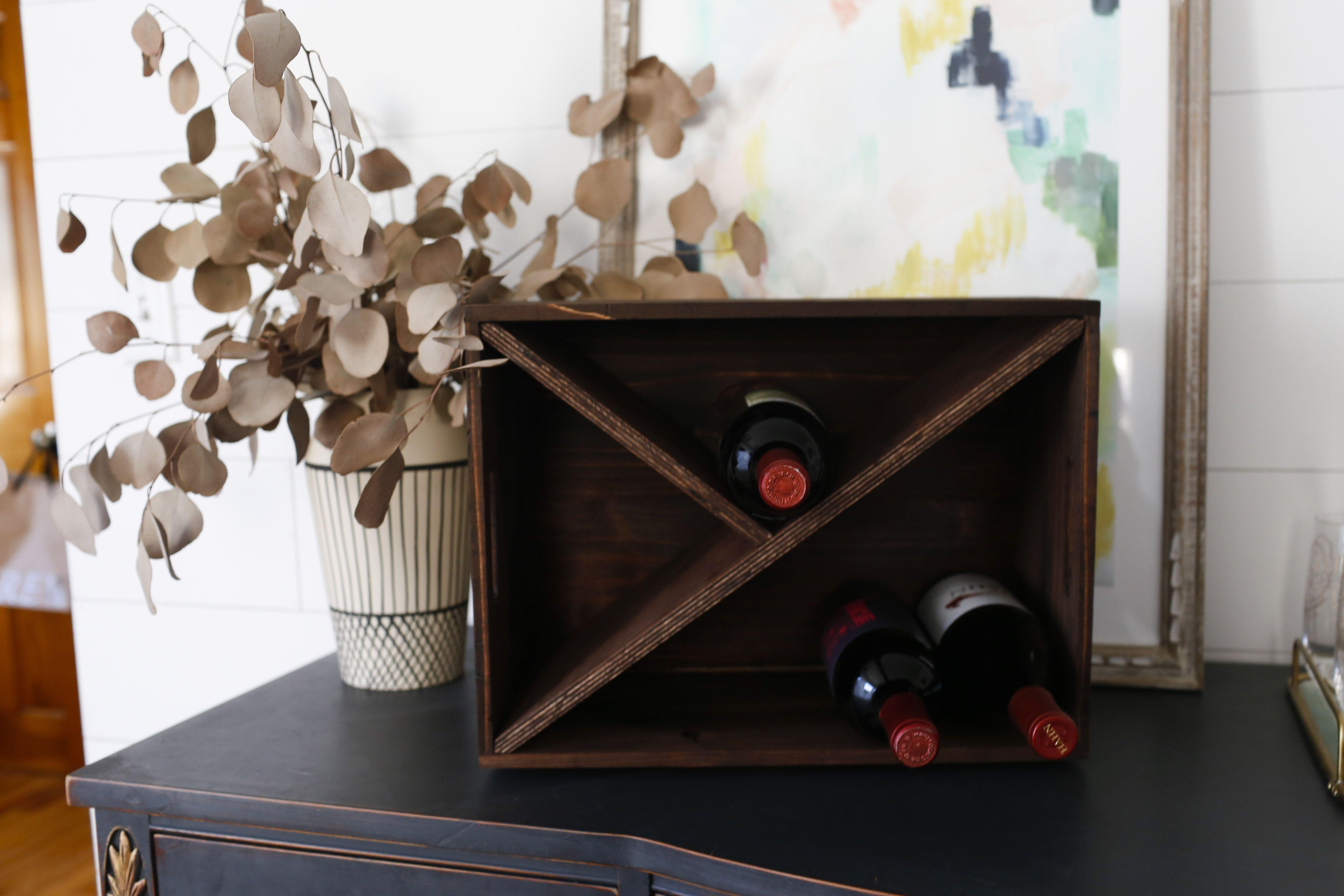Simple DIY Wine Rack