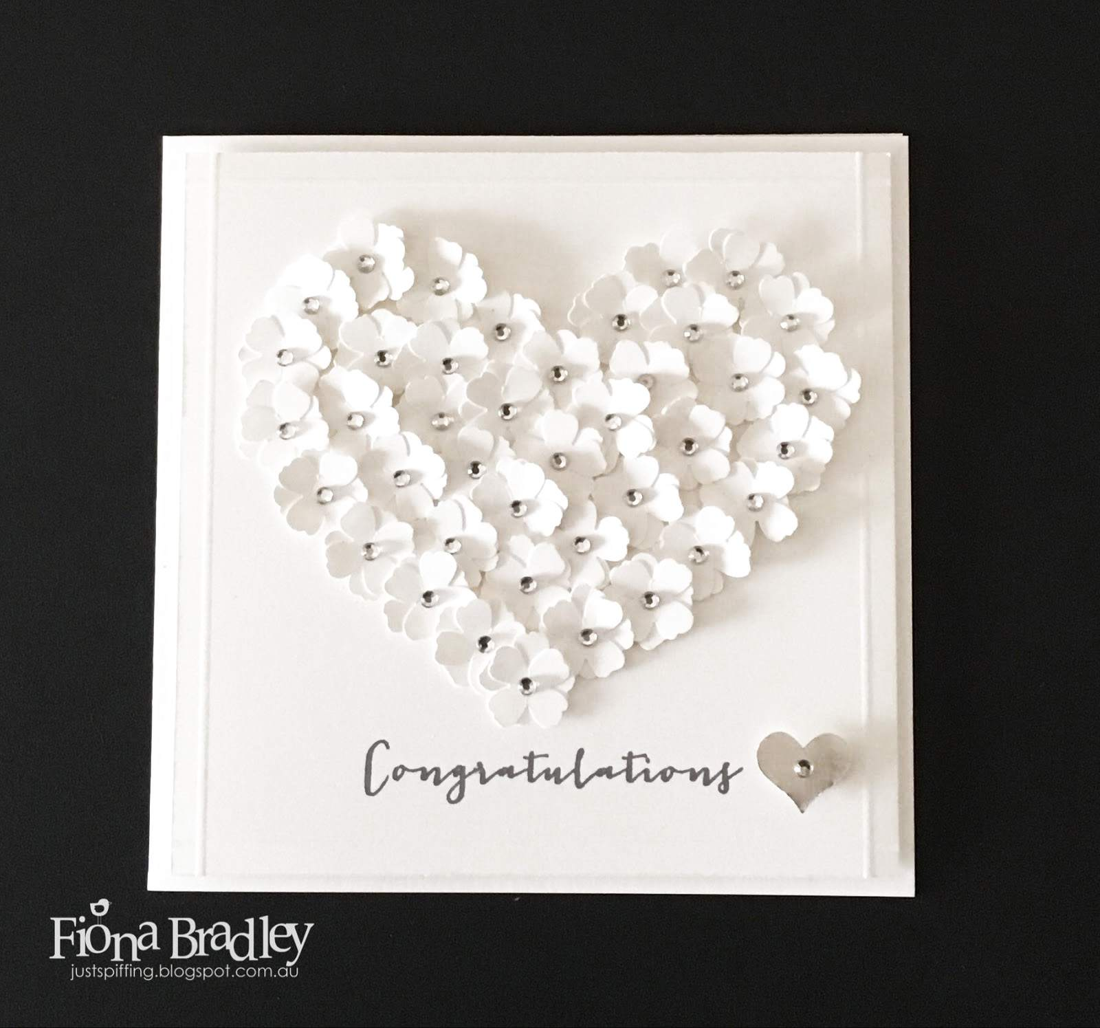 heart made from paper flowers