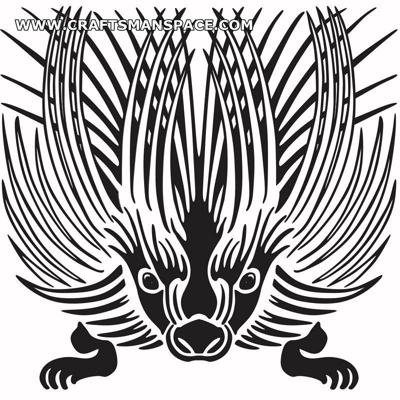 A porcupine stencil