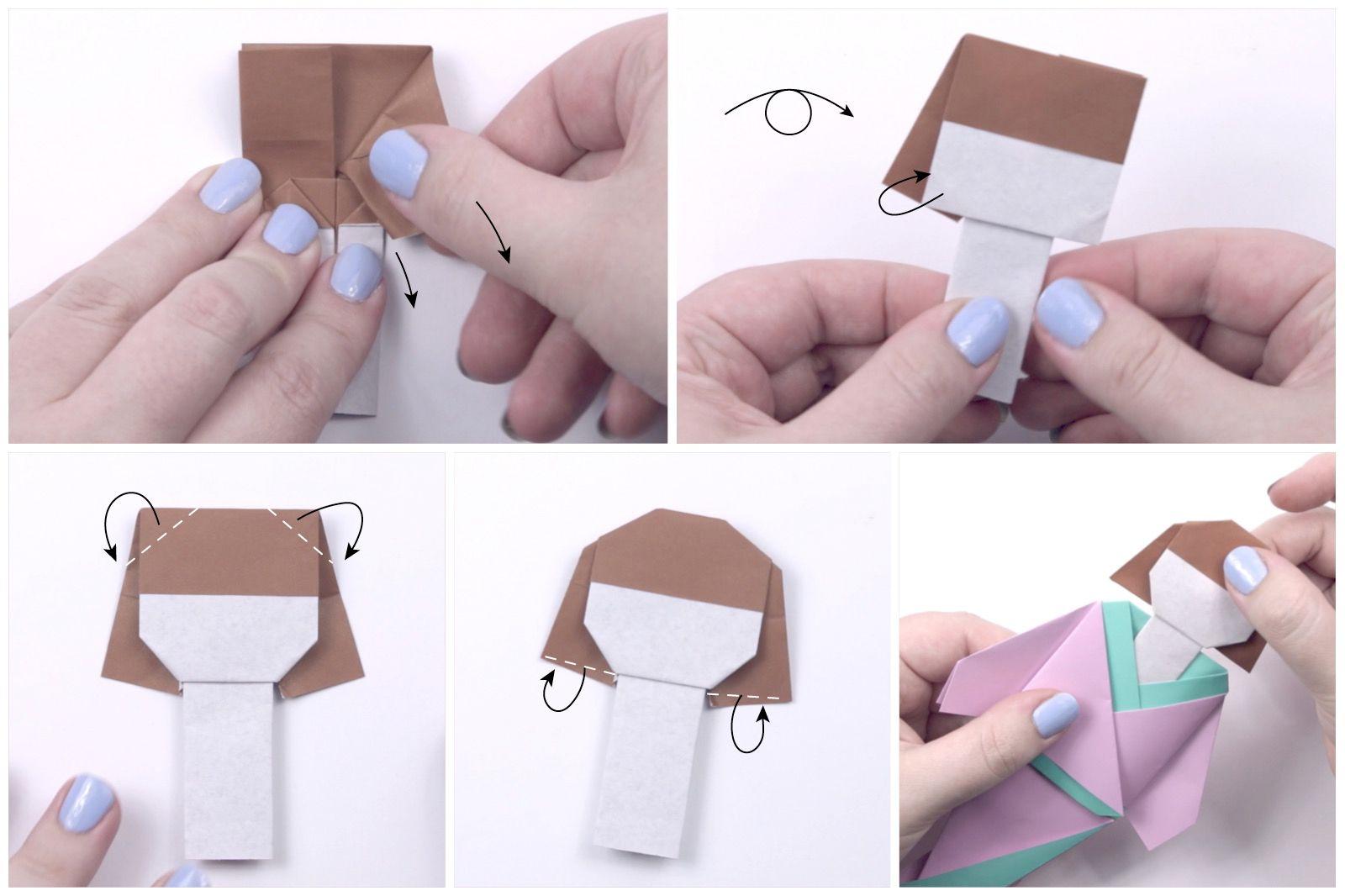 japanese origami doll tutorial 12