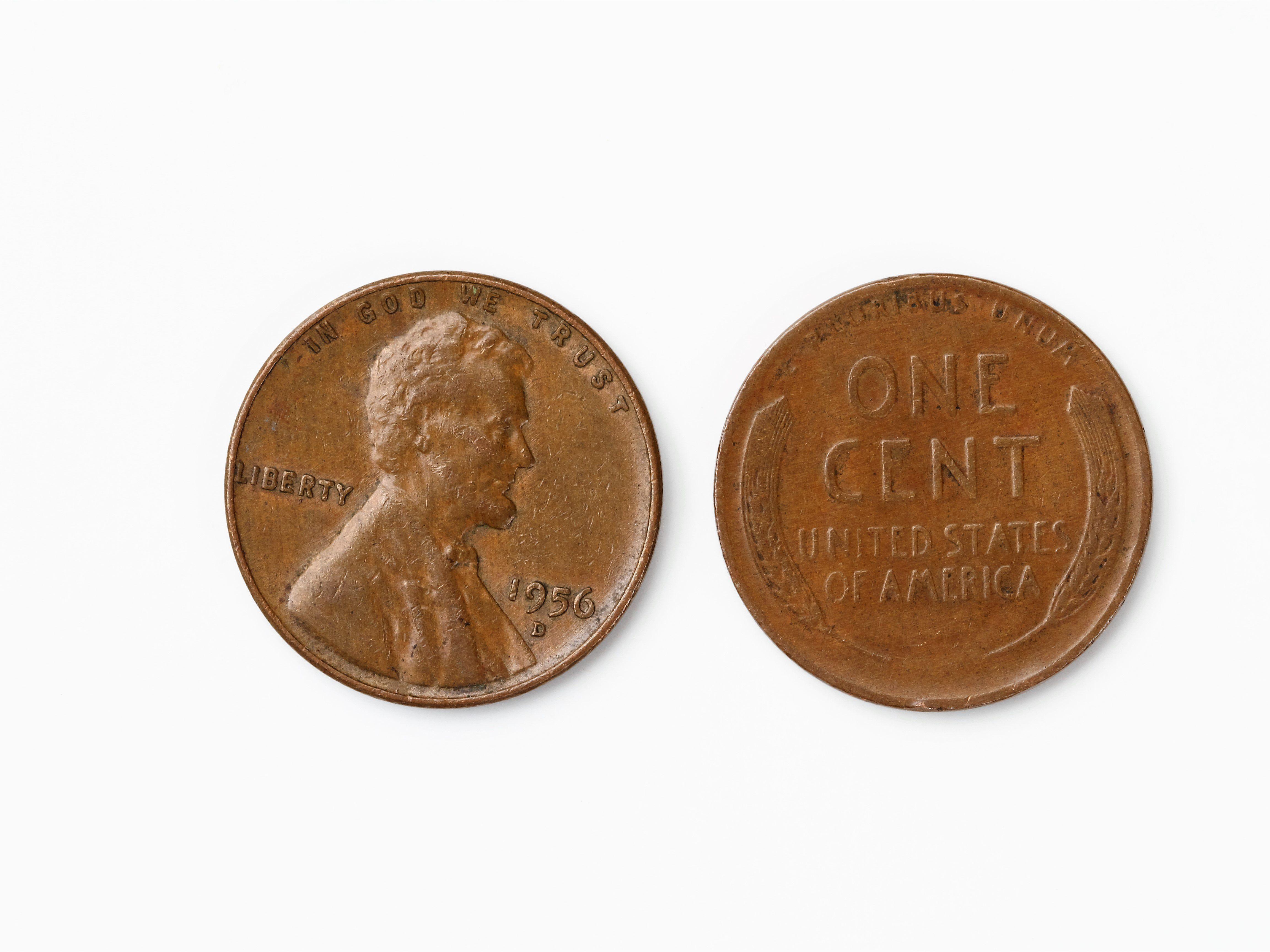 1909 P 1913-P Lincoln Wheat Cent 5 Coin Run Circulated