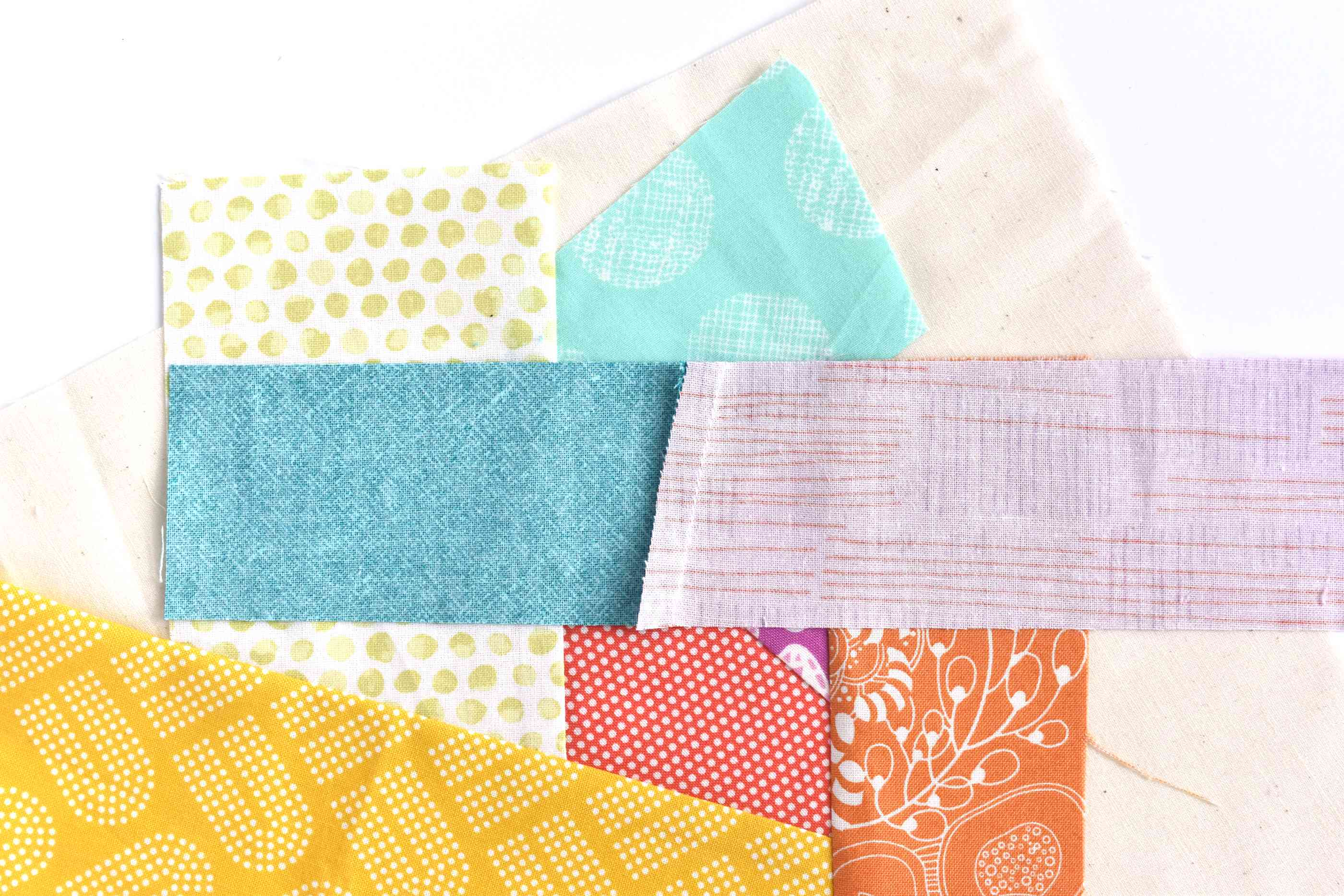 Pieced strips of fabric