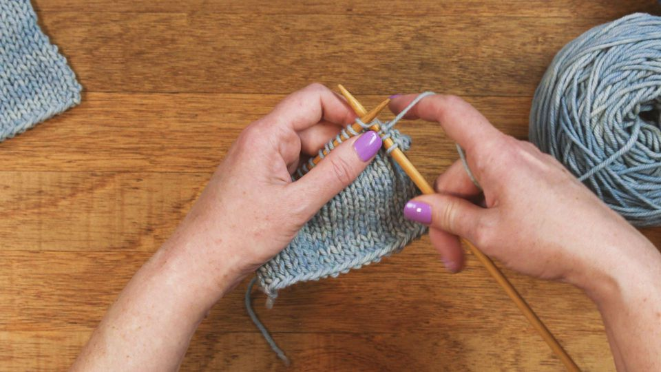 Basic knit stitch