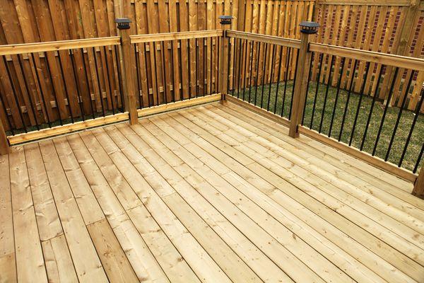 New wooden deck