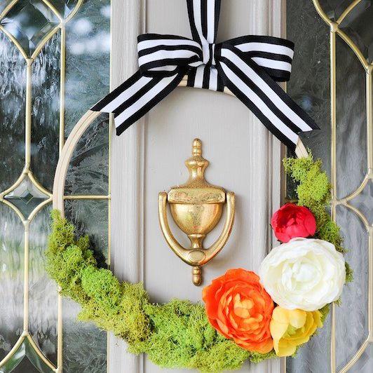 DIY Modern Floral Spring Wreath
