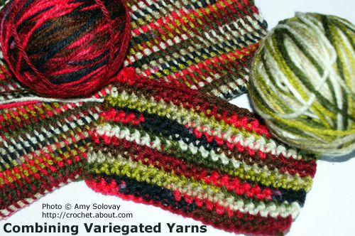 Combining Variegated Yarn. Photo &copy Amy Solovay.