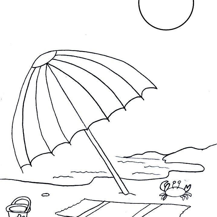 Free, Printable Summer Coloring Pages For Kids