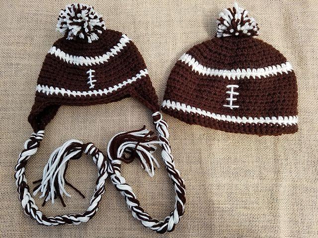 Football Hat Free Crochet Pattern