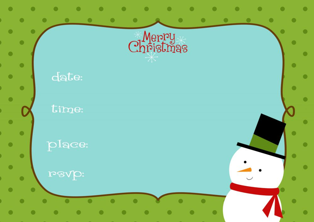 15 free christmas party invitations that you can print stopboris