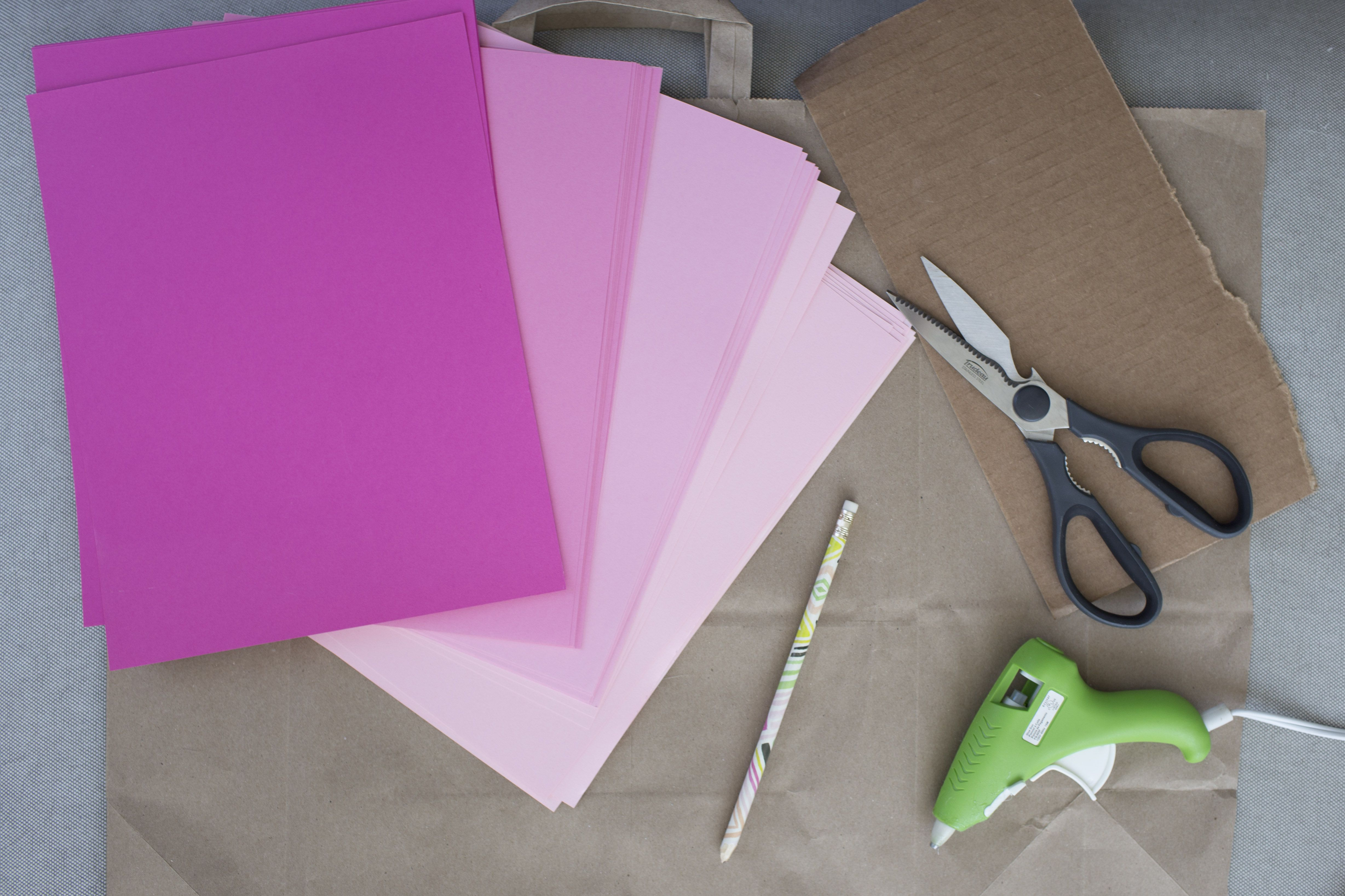 large paper flower materials