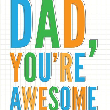 Father's Day Cards in Blue, Green, and Orange