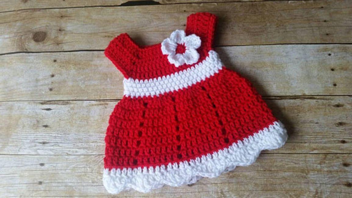 4b90b78ae 15 Precious Crochet Newborn Dress Patterns
