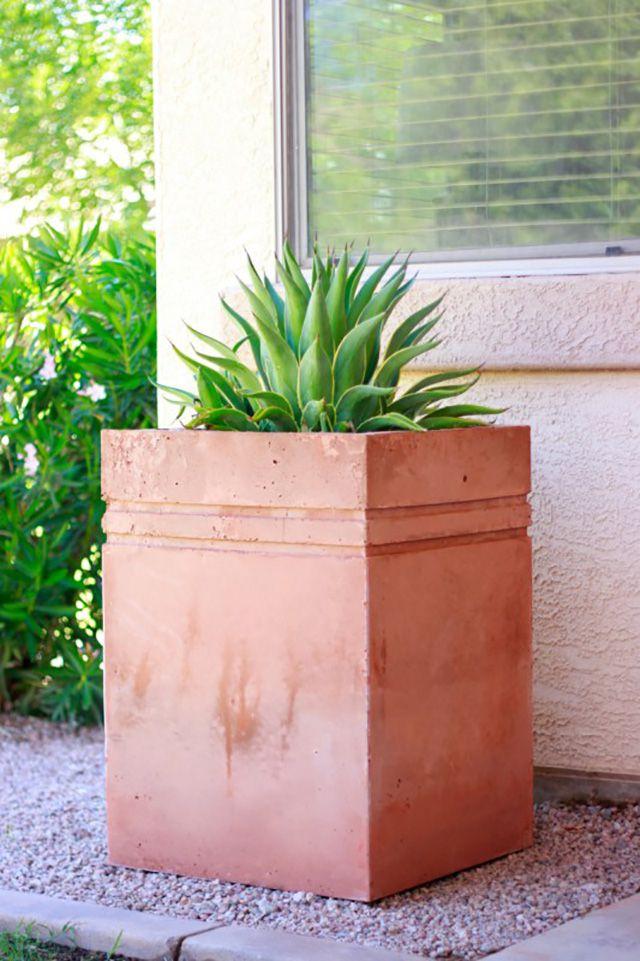 large concrete planter
