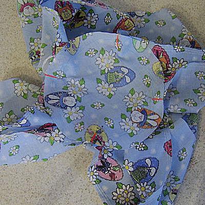 Fabric basket liner sides