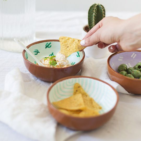 DIY Fiesta Patterned Snack Bowls