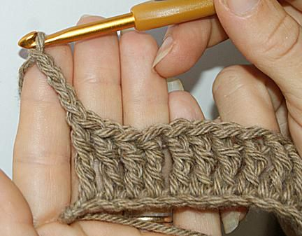 Turning Chain Example: This is a turning chain for treble crochet stitch.