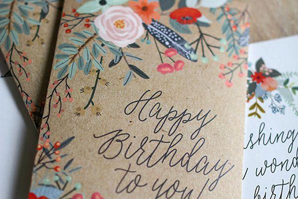 floral printable card