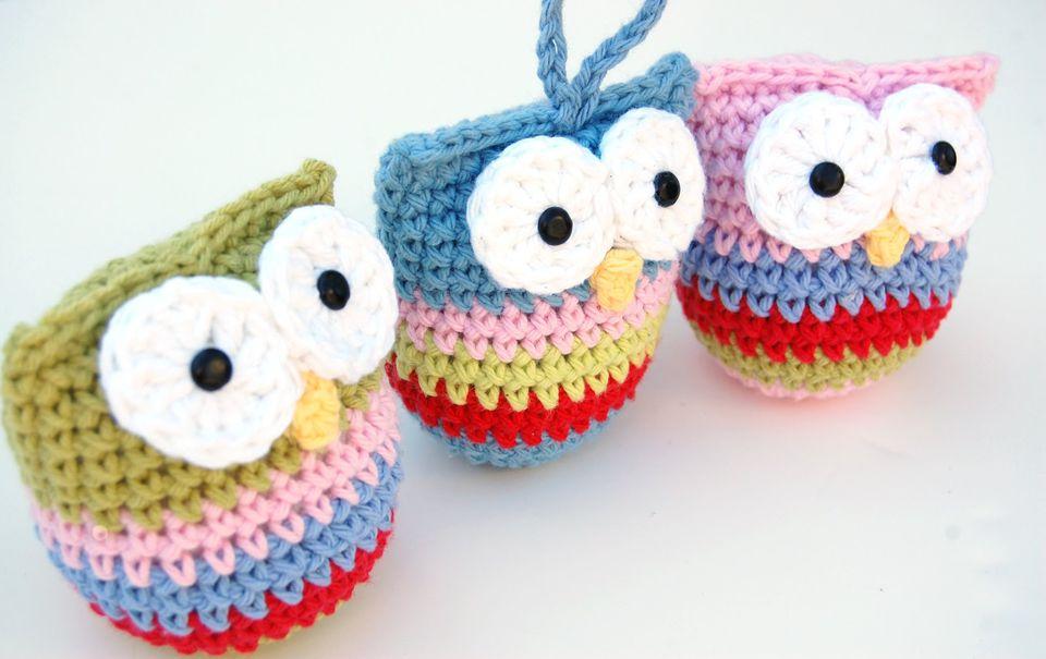 Crochet Owl Ornament