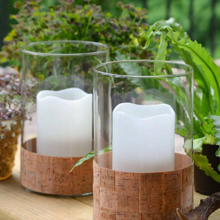 Cork Wrapped Candle Holder