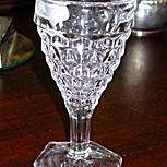 Fostoria American Wine Glass with Hex Foot