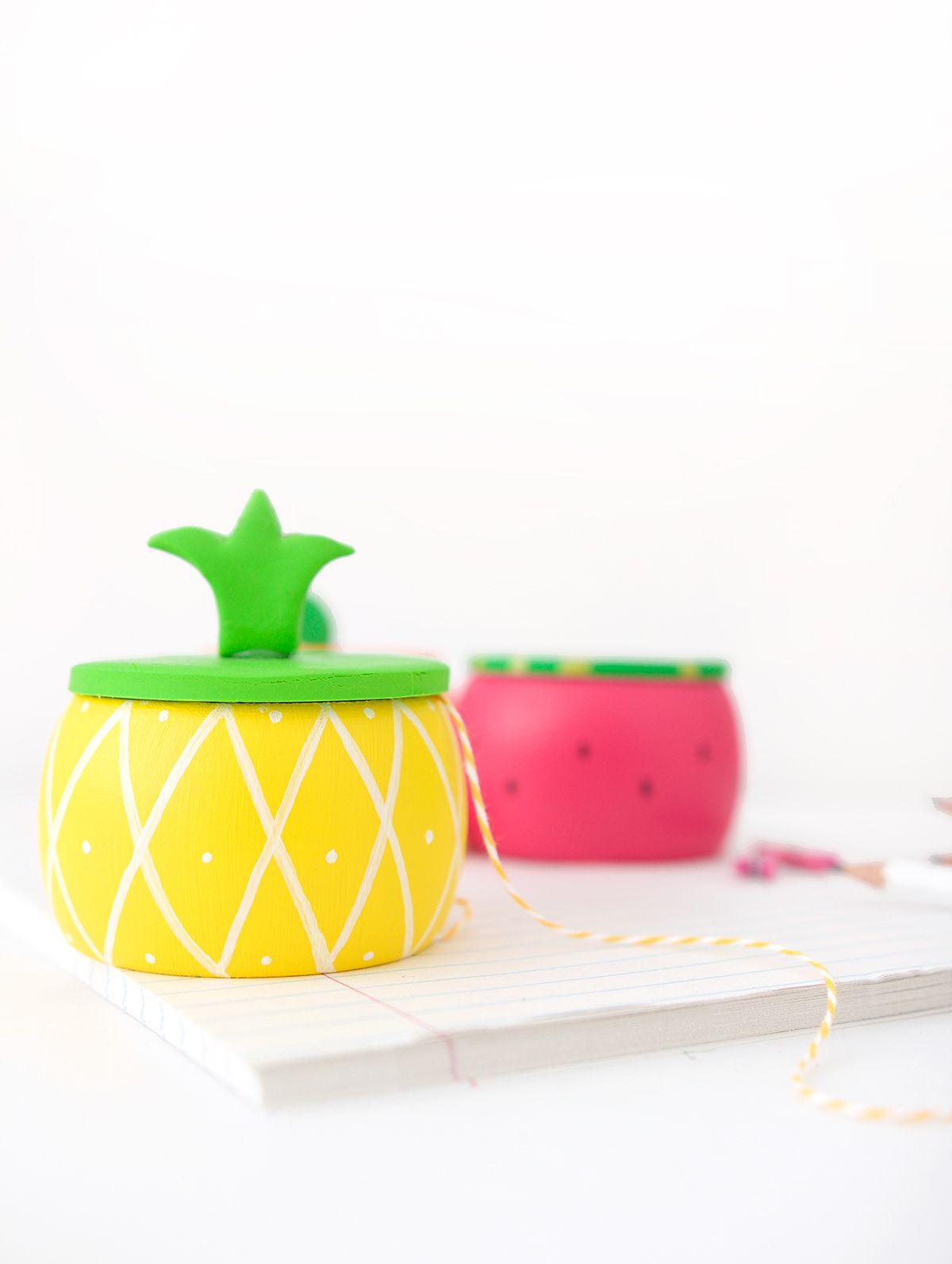 DIY Pineapple Trinket Box