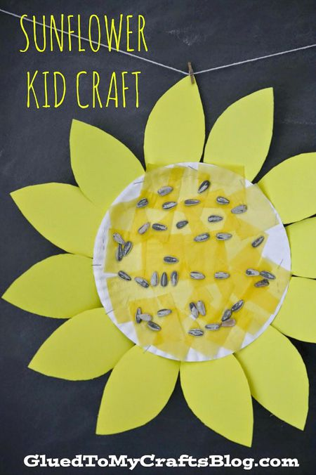 Sunflower Kid Craft Glued To My Crafts Blog