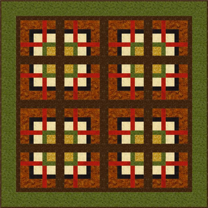 Easy Nine Patch Through the Windows Quilt Pattern