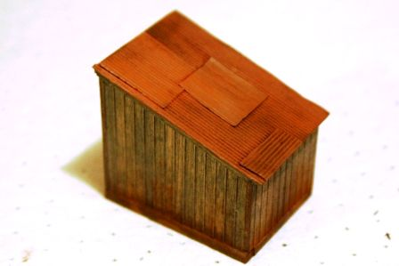 A corrugated roof