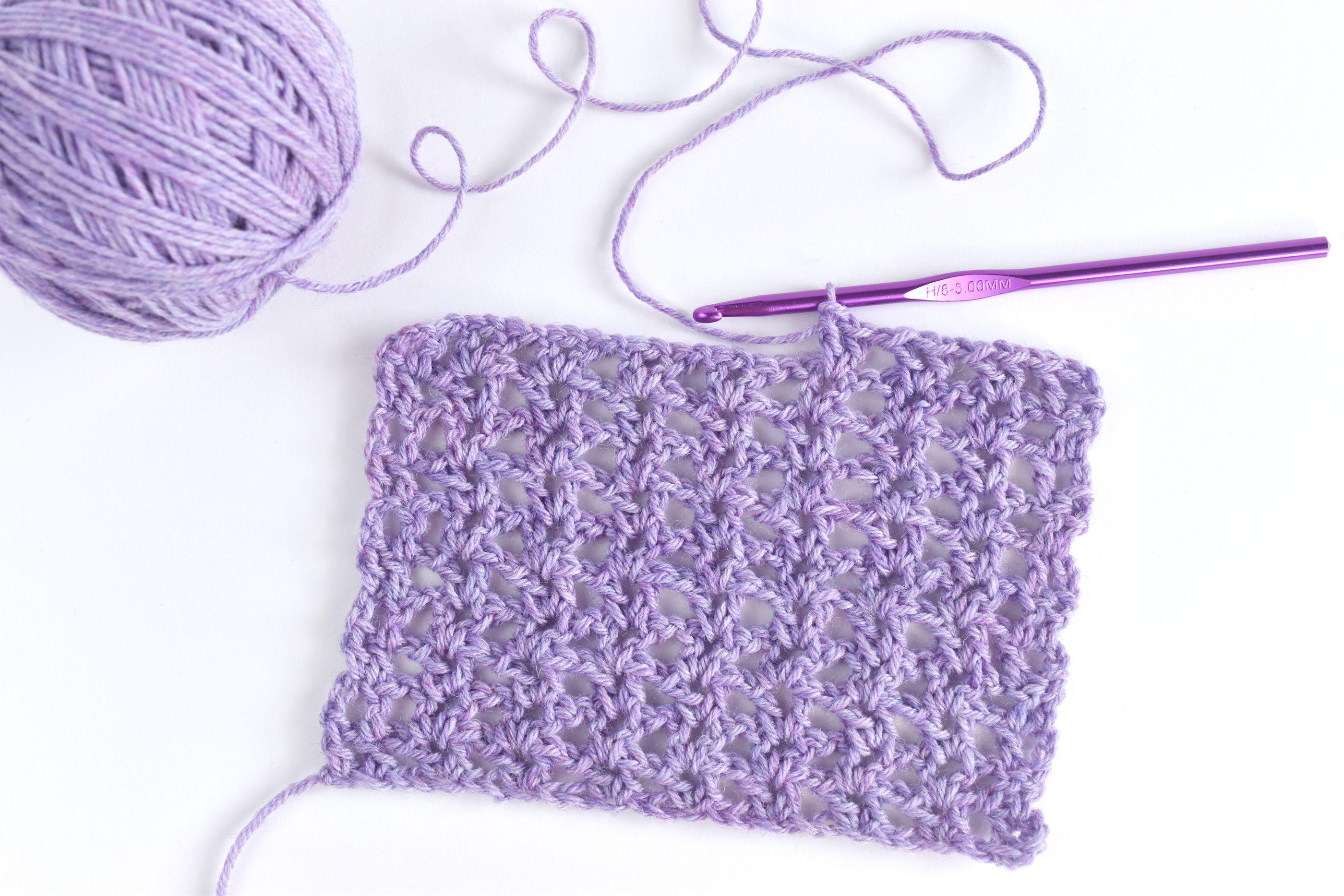 How To Crochet The Basic V Stitch