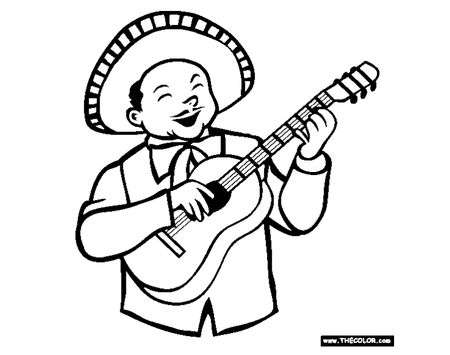 A Mariachi Singer Playing Guitar