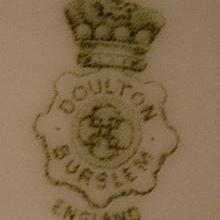 Doulton Burslem England Crown Mark