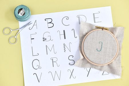 Free Alphabet Embroidery Sampler Pattern