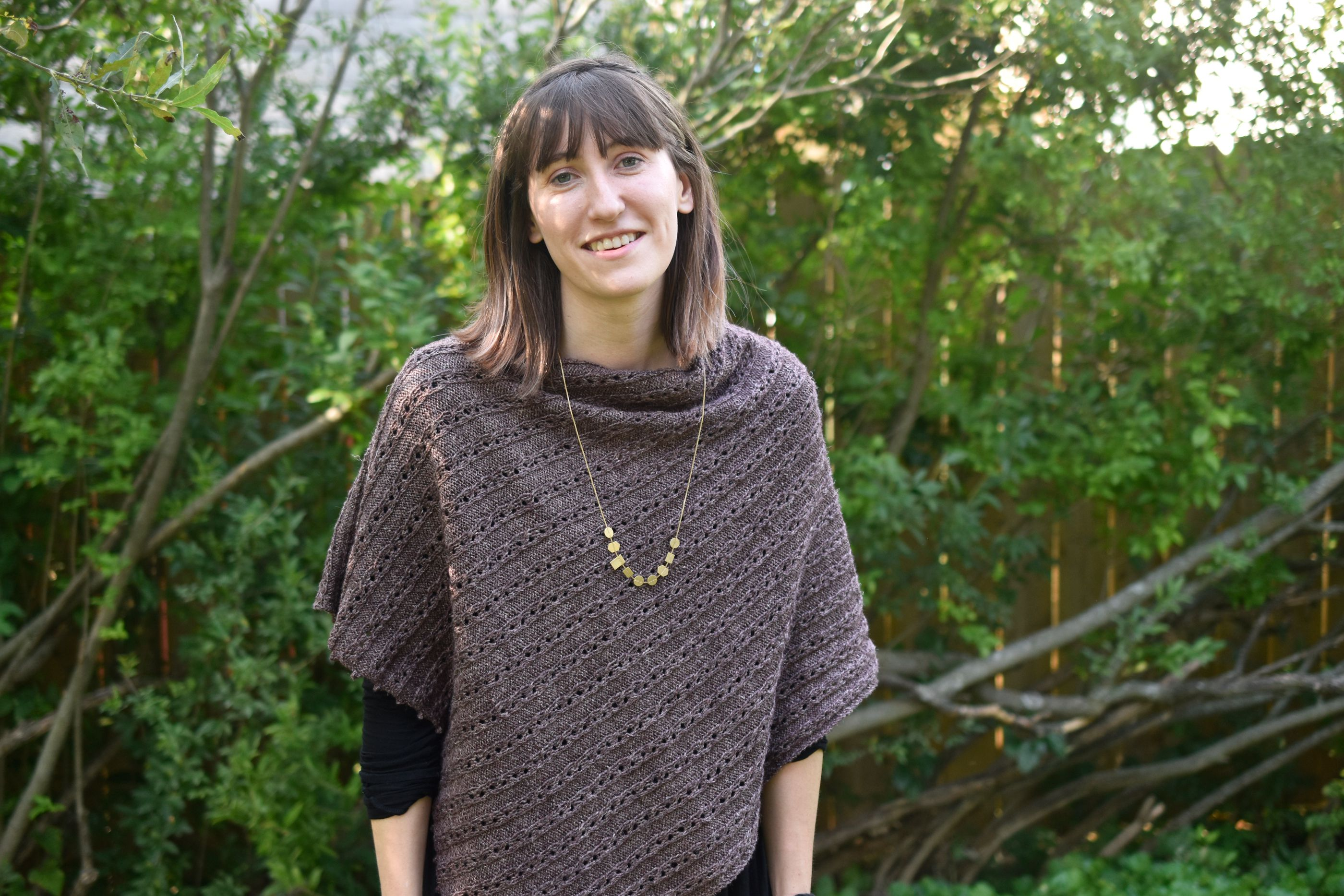 Free Knitting Pattern for the Sylvia Poncho Wrap